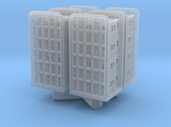 4 Rollcontainer mit Mineralwasser-Kästen (N 1:160) 3d printed