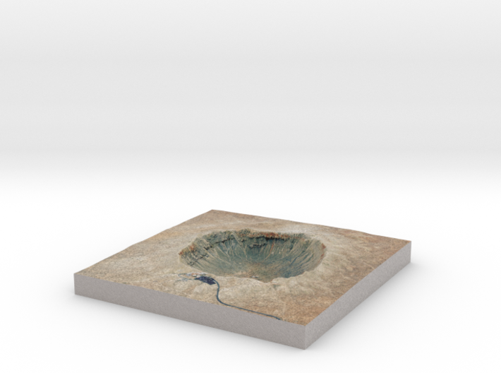 Meteor Crater Map, Arizona: 8 Inch 3d printed