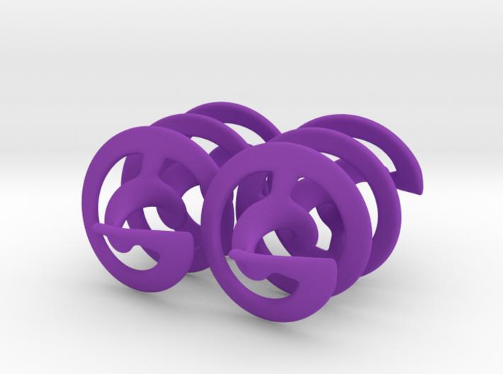 Auger - Earrings in Plastic 3d printed