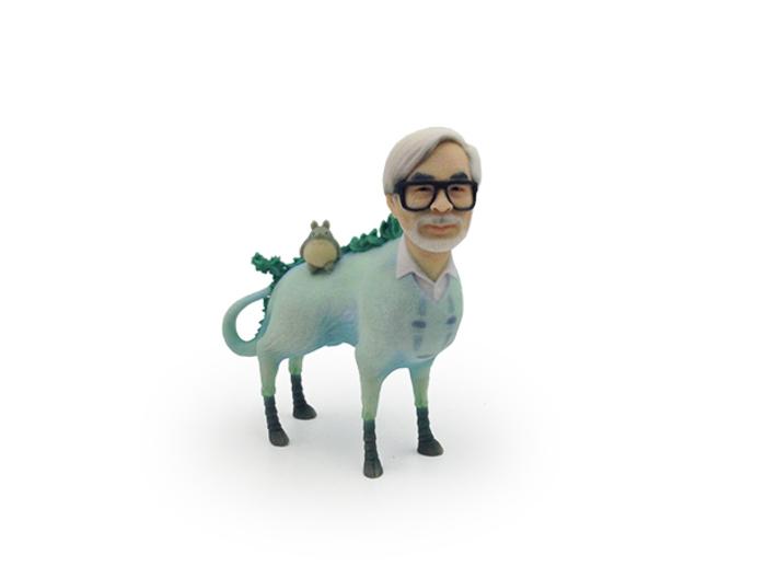 The Hiyatoro Miyazaki Spirit 3d printed This is the actual Full Color Sandstone 3D-print.