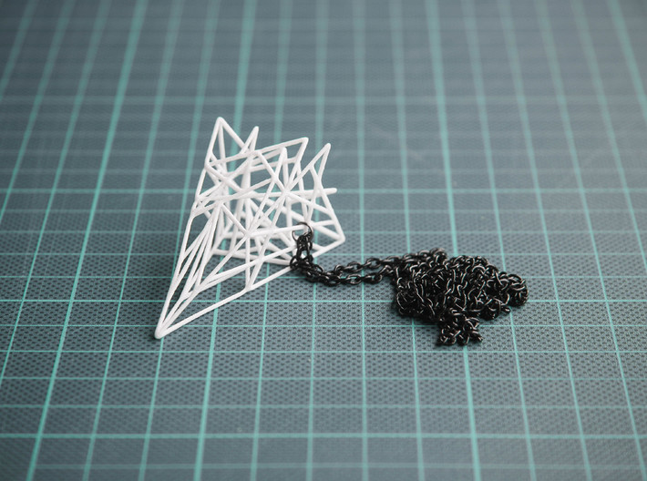 Triangulated Pyramid Pendant 3d printed Triangulated Pyramid Pendant