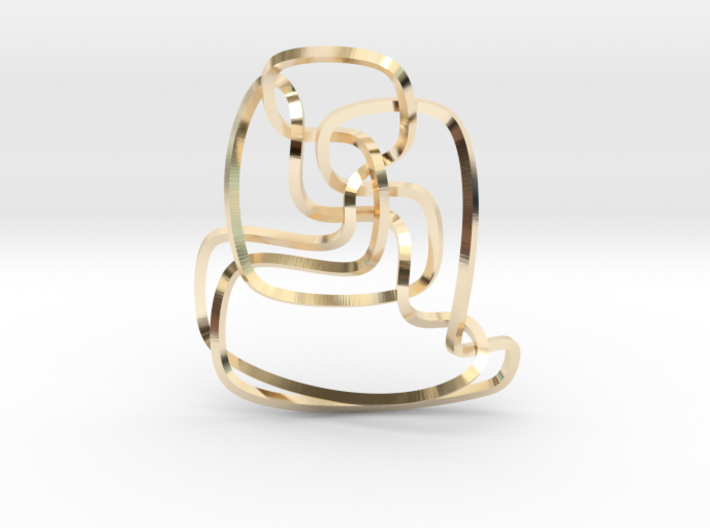 Thistlethwaite unknot (Square) 3d printed