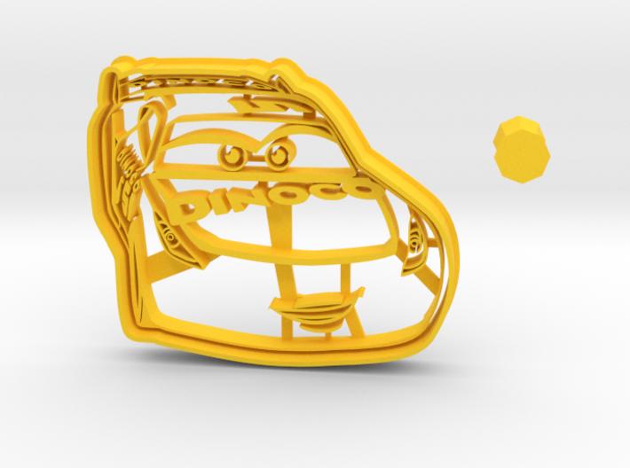 Cruz Ramirez Cookie Cutter from Cars 3 + handle 3d printed