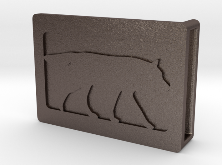 Belt Buckle - Wolf - M1FF 3d printed