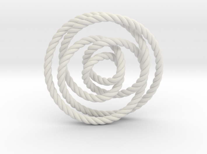Rose knot 2/5 (Rope) 3d printed