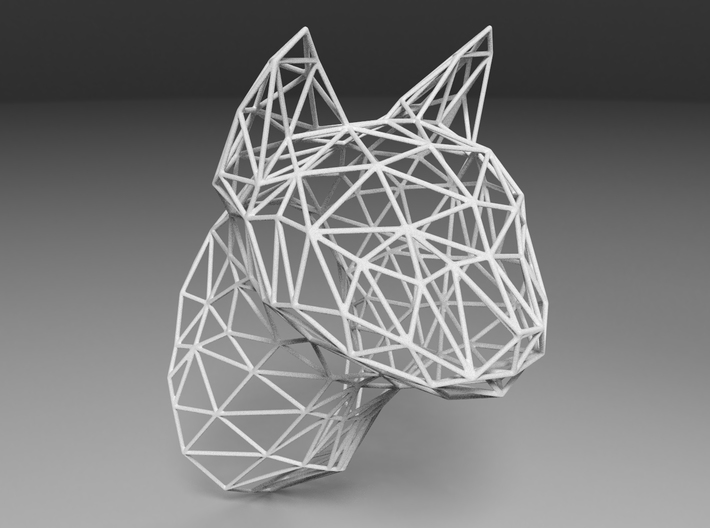 Wireframe Cat head 3d printed