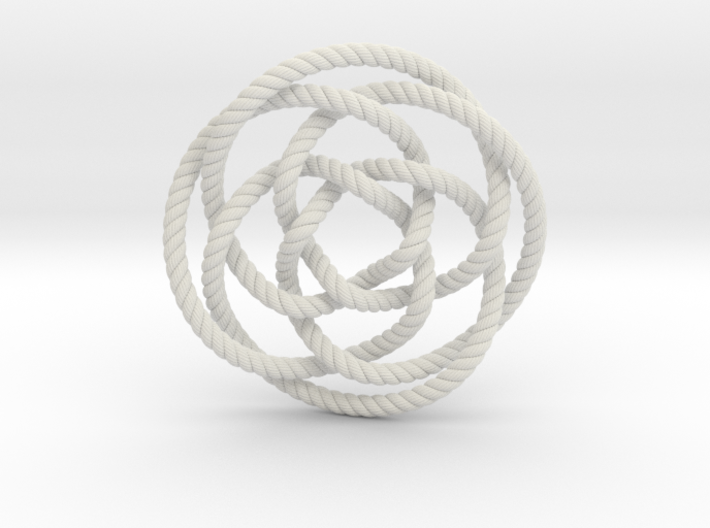 Rose knot 4/5 (Rope with detail) 3d printed