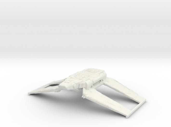 1/1000 Zeta-class Cargo Shuttle (flight) v2 3d printed