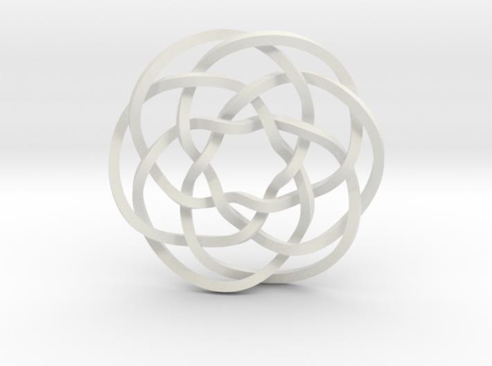 Rose knot 6/5 (Square) 3d printed