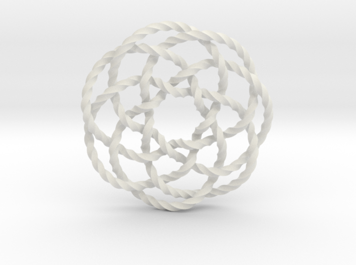 Rose knot 7/5 (Twisted square) 3d printed
