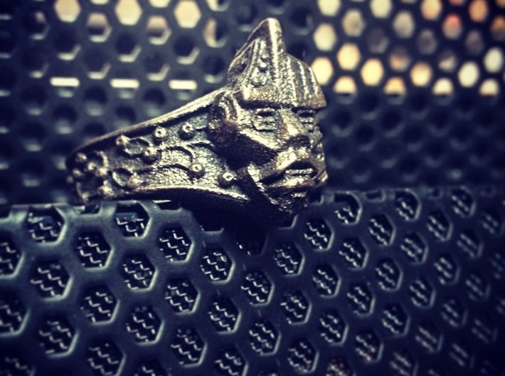 Neuromancer Avatar Ring (US Size 8) 3d printed