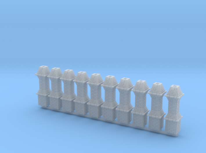 HO 10x Thurmont Station Chimney #1 3d printed