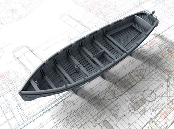 1/144 Scale Royal Navy 32ft Cutter x1 3d printed 1/144 Scale Royal Navy 32ft Cutter x1