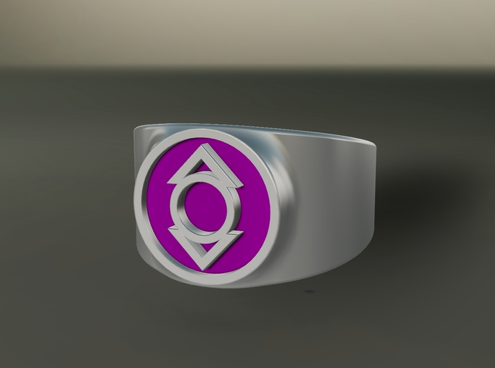 Indigo Tribe Compassion GL Ring (Sz's 5-15) 3d printed Custom Enameled