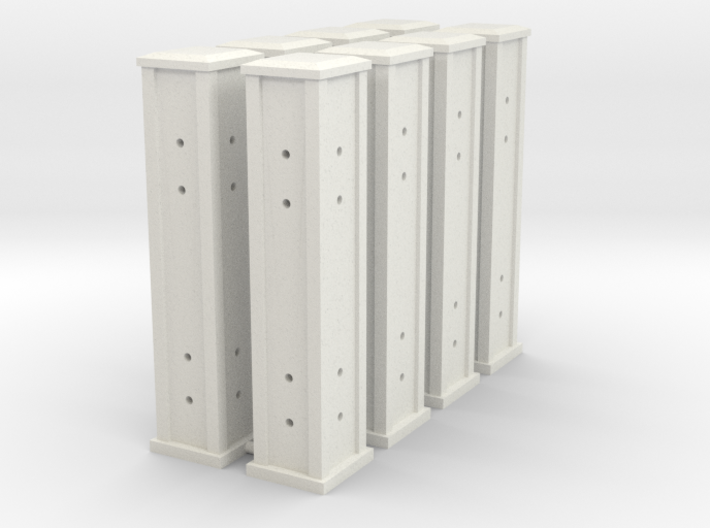 HO/1:87 Cemetery set 6 - pillars kit 3d printed