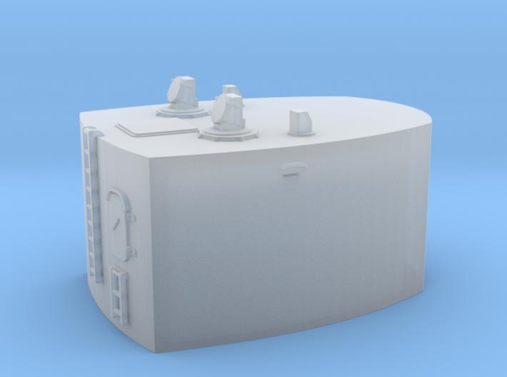 1/200 Bismarck aft cabin under 10.5m RF 3d printed