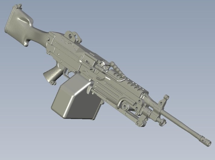 1/15 scale FN Fabrique Nationale M-249 Minimi x 3 3d printed