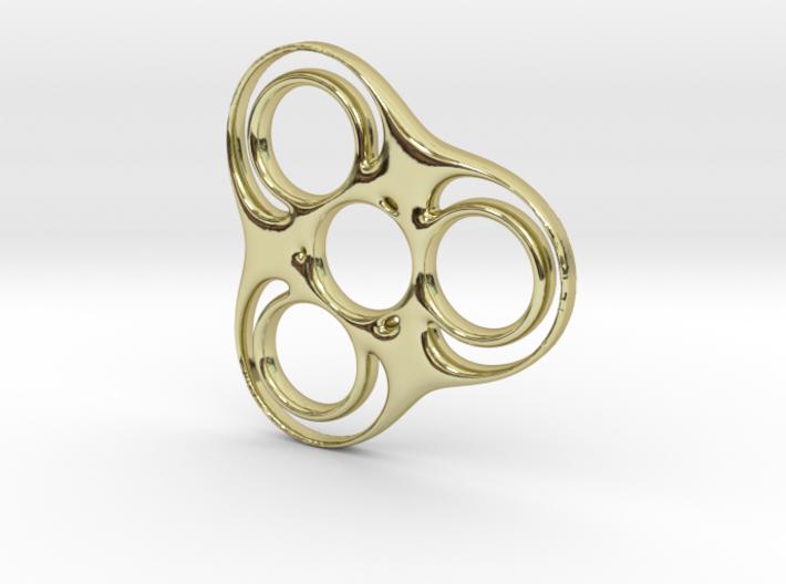 Trefoil-circle Spinner 3d printed