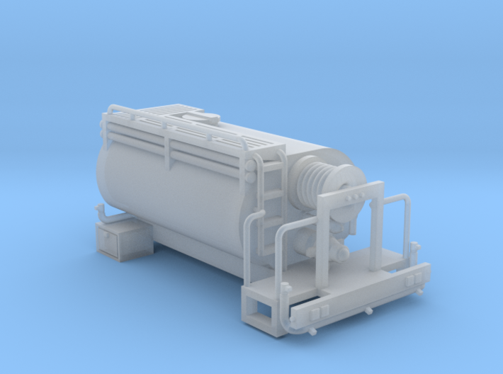 Pickup Water Tanker Truck Bed 1-87 HO Scale 3d printed