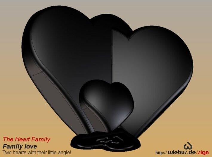 Heart Family - Family love! (medium size) 3d printed