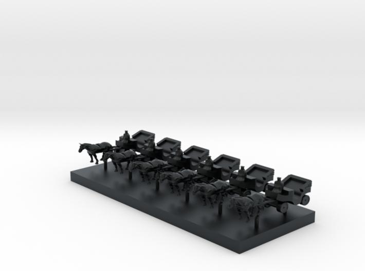 Carriage - T Scale 1:450 6 pcs set 3d printed