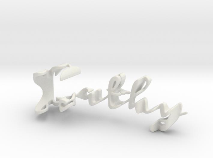 3dWordFlip: Cathy/bloom 3d printed