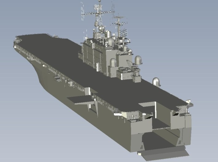 1/1800 scale USS Tarawa LHA-1 assault ship x 1 3d printed