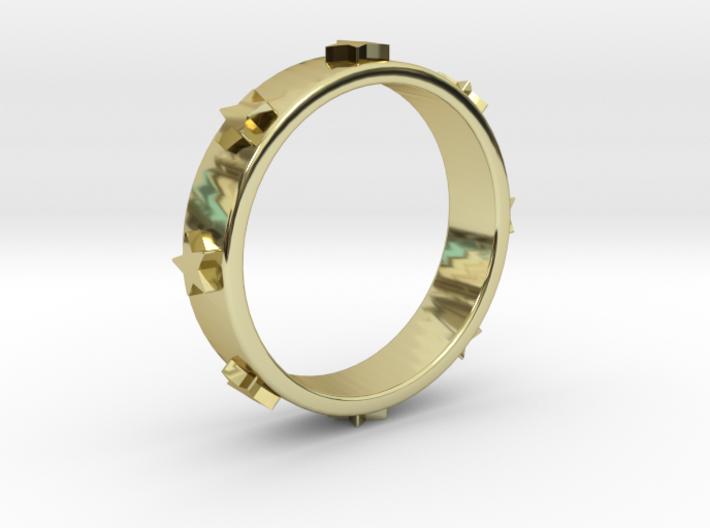 Stars Ring 3d printed