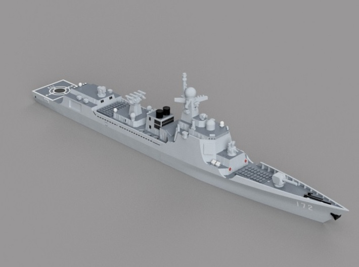 1/2000 CNS Kunming  3d printed Computer software render.The actual model is not full color.