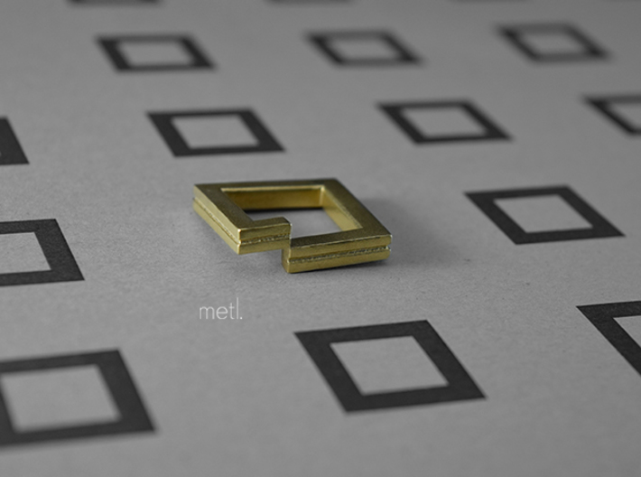 Perfectly Imperfect Ring #1 3d printed