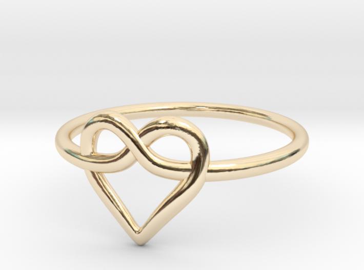 Infinity Love Ring 3d printed
