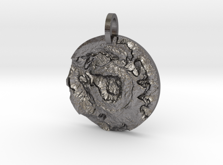 Upheaval Dome Map Pendant 3d printed