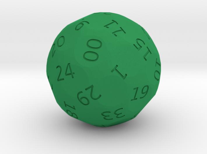 d38 Roulette die 3d printed