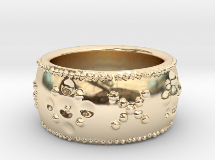 Spoleto Beaded Ring 3d printed