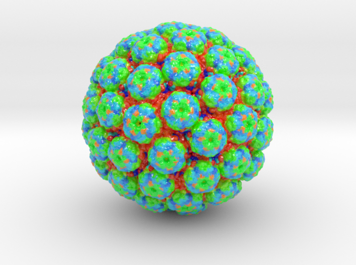 Polyomavirus Colored (3 sizes) 3d printed
