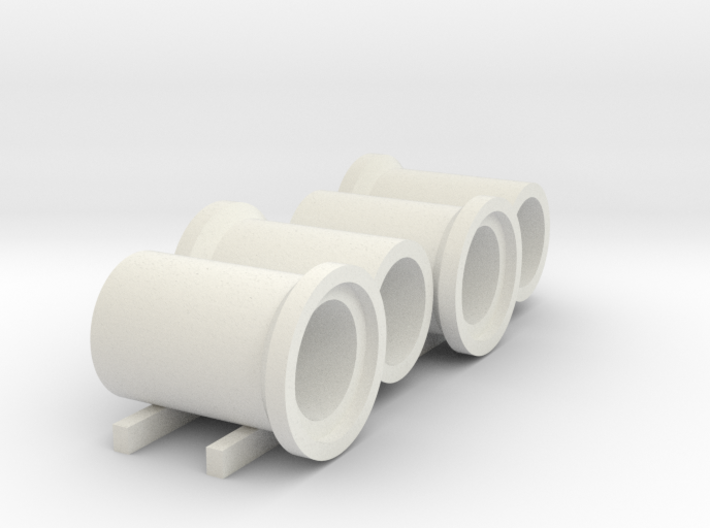 N scale (1:160) barge of sewer pipes for DAF DO 24 3d printed