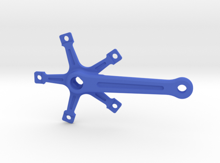 Bicycle Crank Keyring Pendant 3d printed