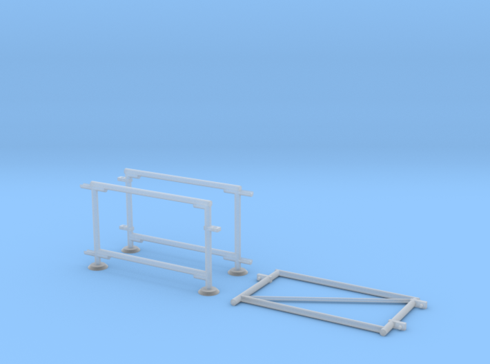 6' Chain-link Fence   Swinging Vehicle Gate (HO) 3d printed