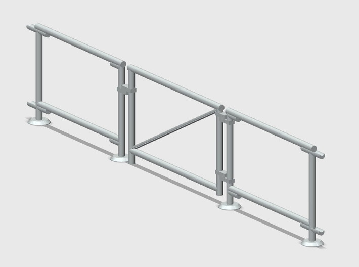 6' Chain-link Fence Swinging Vehicle Gate (HO) 3d printed Part # CLB-013