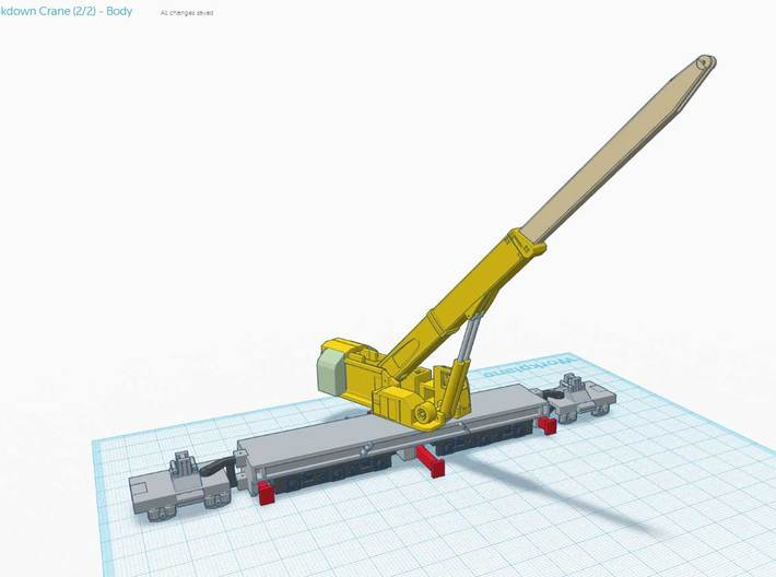 (2/4) - NZ120 60 ton Breakdown Crane - Body 3d printed When assembled in theory will look like this..