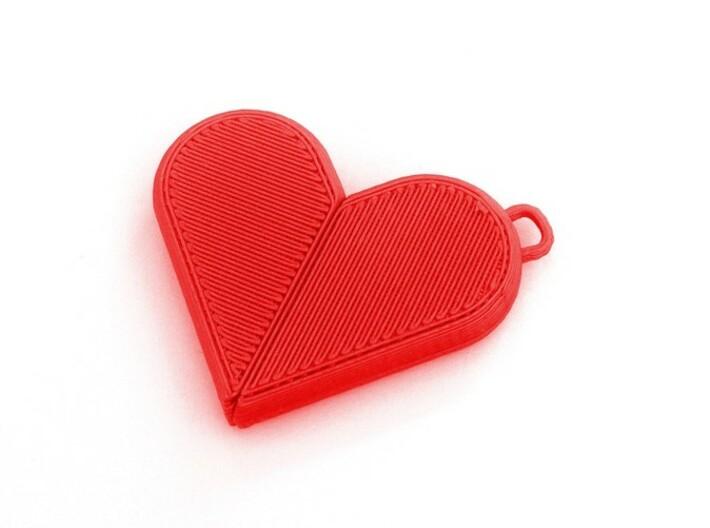 Illusionist Heart Pendant 3d printed Heart Mode