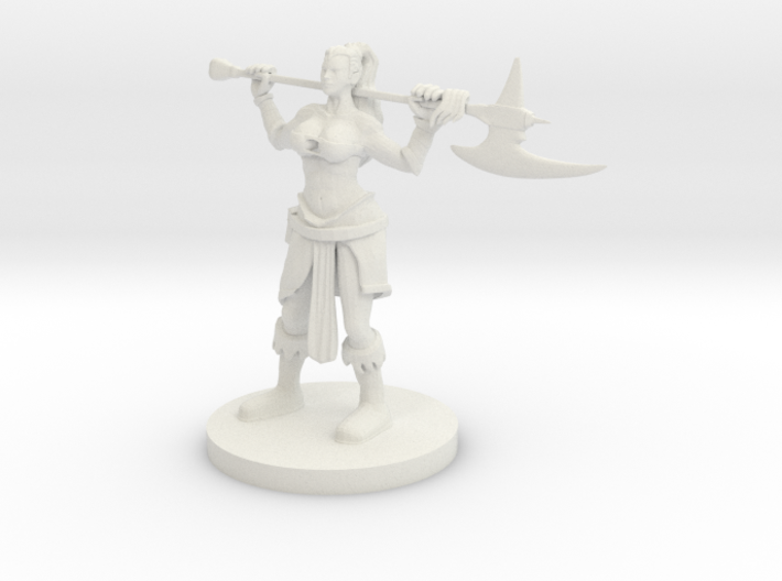 Human Female Barbarian 2 3d printed