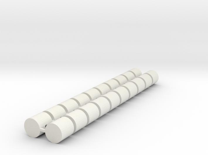 Strohballen Rundballen klein 20er Set 1:120 3d printed