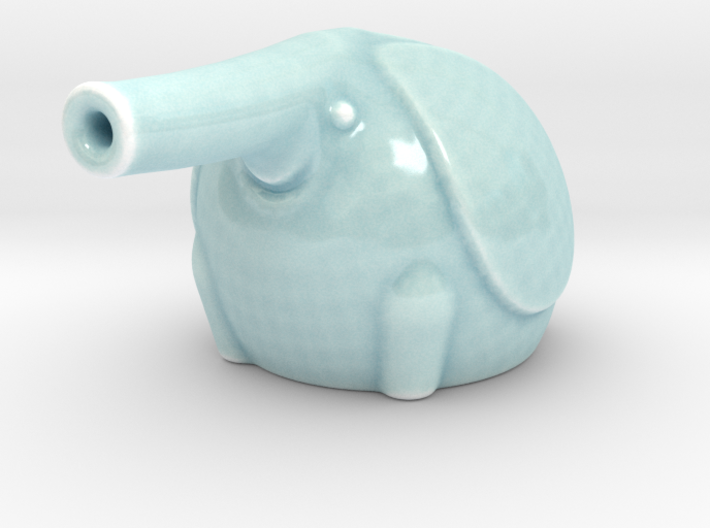 Twin Baby Elephant Soy Sauce Dribbler 3d printed