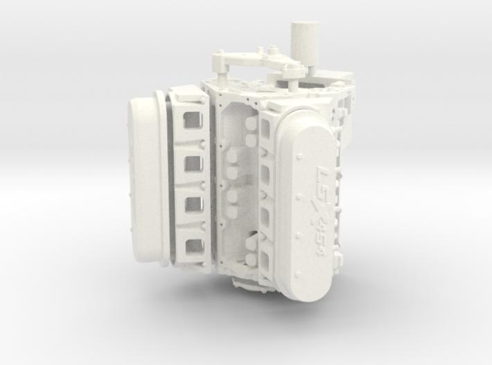 Ls3 1/12 engine 3d printed