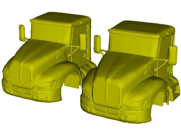 1/87 scale Kenworth T370 truck cabins x 2 3d printed