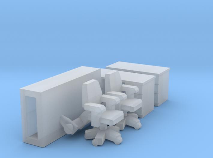 Office furniture (N 1:160) 3d printed