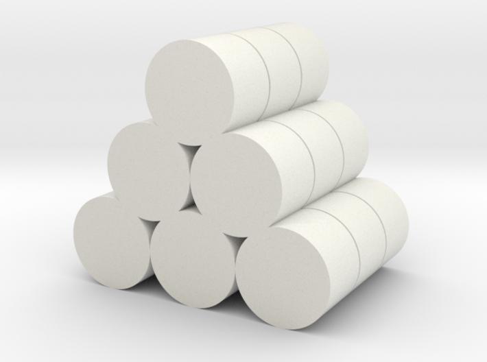 Strohballen Rundballen geschichtet als Pyramide 18 3d printed