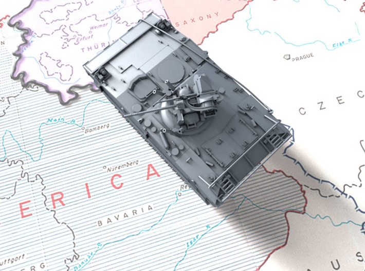 1/72 French AMX-10P Infantry Fighting Vehicle 3d printed 3d render showing product detail