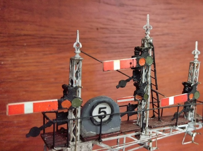 S&D L&SW Railway Cruciform Signal Post Finials x10 3d printed